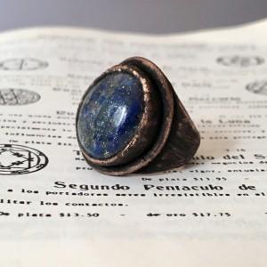 pierścionek z lapis lazuli r.15