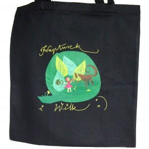 """Bawełniana torba na zakupy z nadrukiem autorskiej grafiki """"Czerwony kapturek"""""""