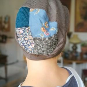 czapka damska szara etno boho