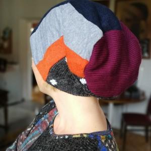 czapka damska etno boho szyta patchworkowo
