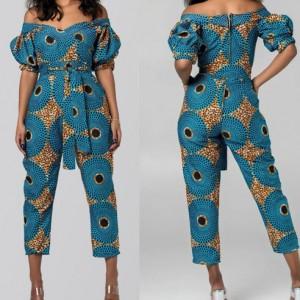 kombinezon wiosenny w afrykańskie wzory