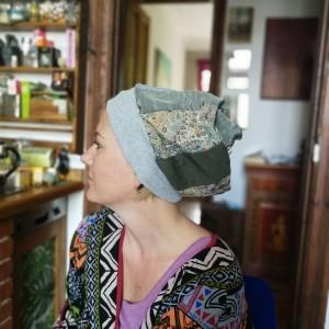 czapka szyta patchworkowo etno boho handmade