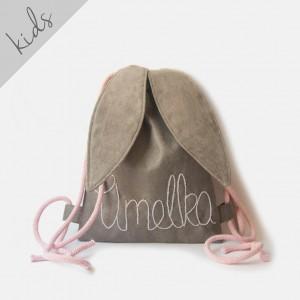 Mini plecak królik z imieniem Amelka