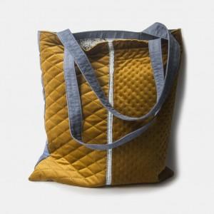 Miodowa pikowana torba na ramię