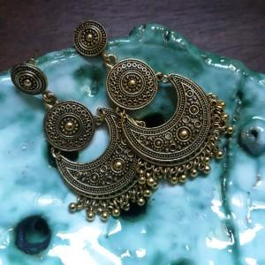 kolczyki orientalne duże długie ornamenty
