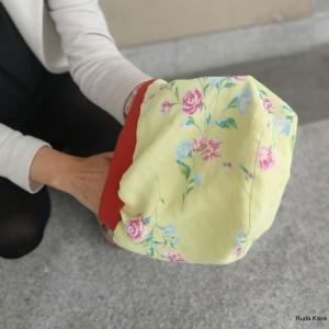 czapka damska szyta z tkaniny