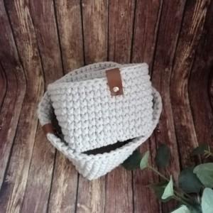 """Koszyk """"Linen"""" ze sznurka bawełnianego, 2 sztuki."""