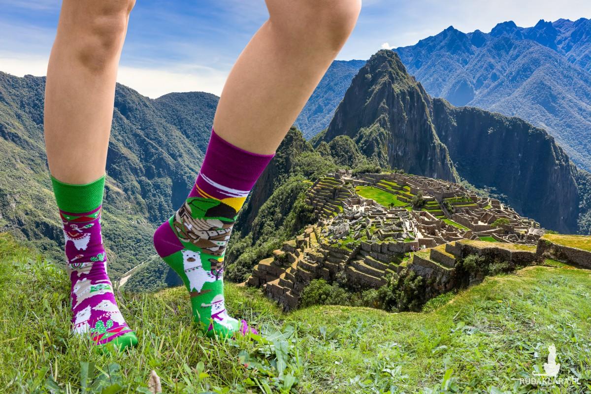 Skarpetki Lamy z Machu Picchu