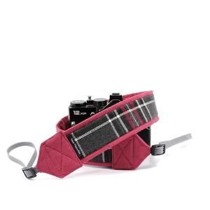 Pasek do aparatu fotograficznego Kratka z bordowym