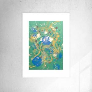 abstrakcyjna grafika, nowoczesna dekoracja na ścianę, obraz do loftu