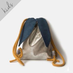 Mini plecak srebrny króliczek