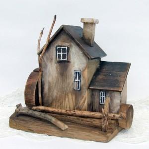 Drewniany domek dekoracyjny - Młyn