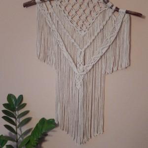 Makrama - dekoracja ścienna ecru