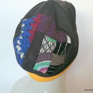 czapka damska wiosenna czarna