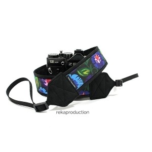 Pasek do aparatu fotograficznego Czarny łowicki z czarnym