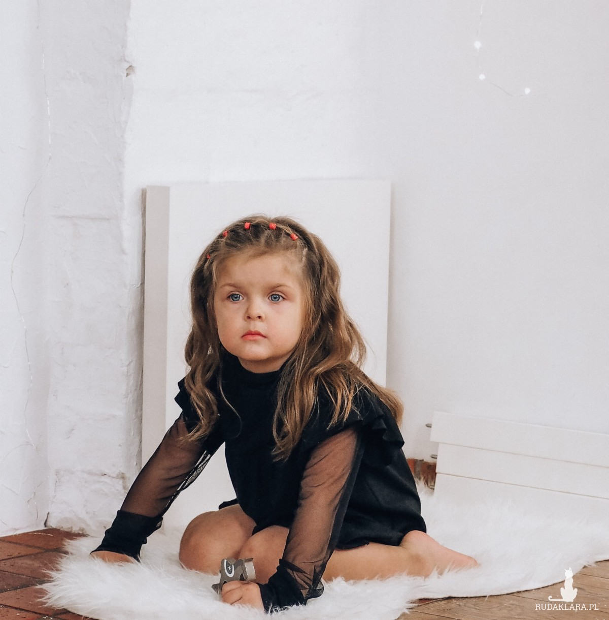Sukienka dziewczęca czarna z tiulem