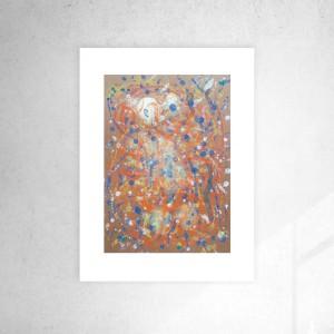 abstrakcyjna grafika na ścianę, dekoracja do loftu, nowoczesna grafika do sypialni, abstrakcja do pokoju