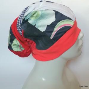czapka damska turbanowa kolorowa wiosenna