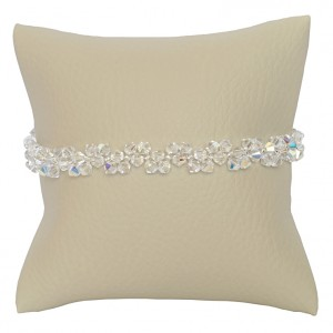 Bransoletka Dauphin Swarovski Elements® kolor crystal AB srebro 925