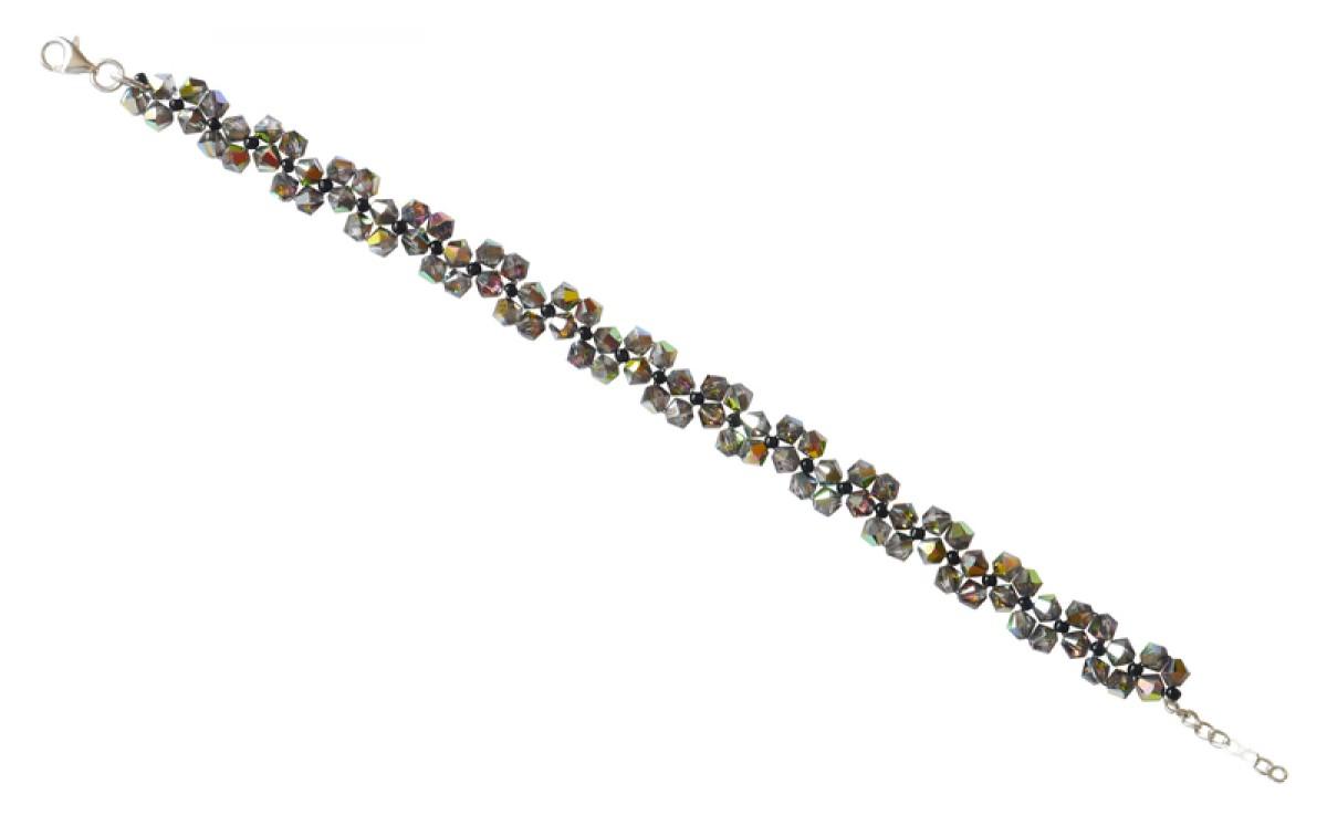Bransoletka Dauphin Swarovski Elements® kolor vitrail medium srebro 925