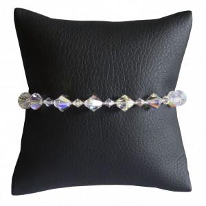 Bransoletka Fourneau Mixte Swarovski Elements® kolor crystal AB srebro 925