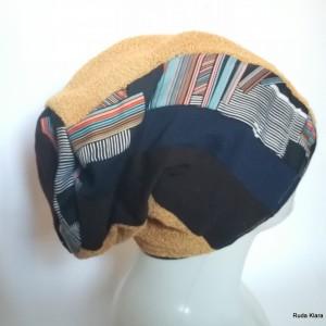 czapka damska kolorowa na podszewce