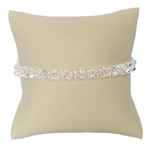 Bransoletka Gémeaux Swarovski Elements® kolor crystal AB srebro 925