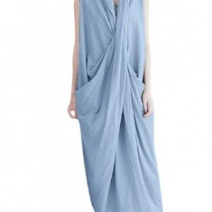 sukienka długa kolor gołębi rozmiar L
