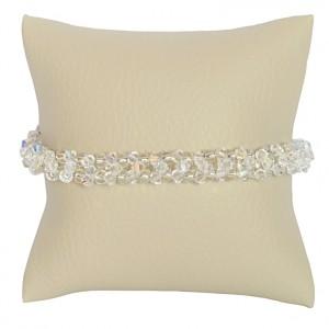Bransoletka Vierge Swarovski Elements® kolor crystal AB srebro 925