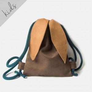 Mini plecak brązowy króliczek
