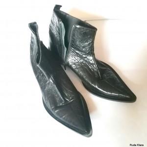 buty damskie skórzane czarne  sztyblety 39