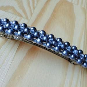 Spinka  srebrne perełki