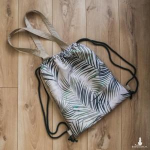 Plecak torba 2w1 beżowy w liście