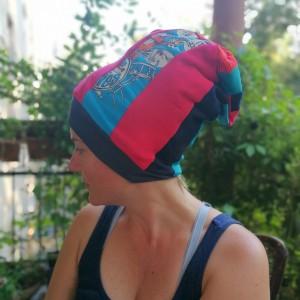 czapka dziecięca  szyta patchworkowo smerfetka