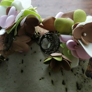 klipsy kwiatowe lekkie boho