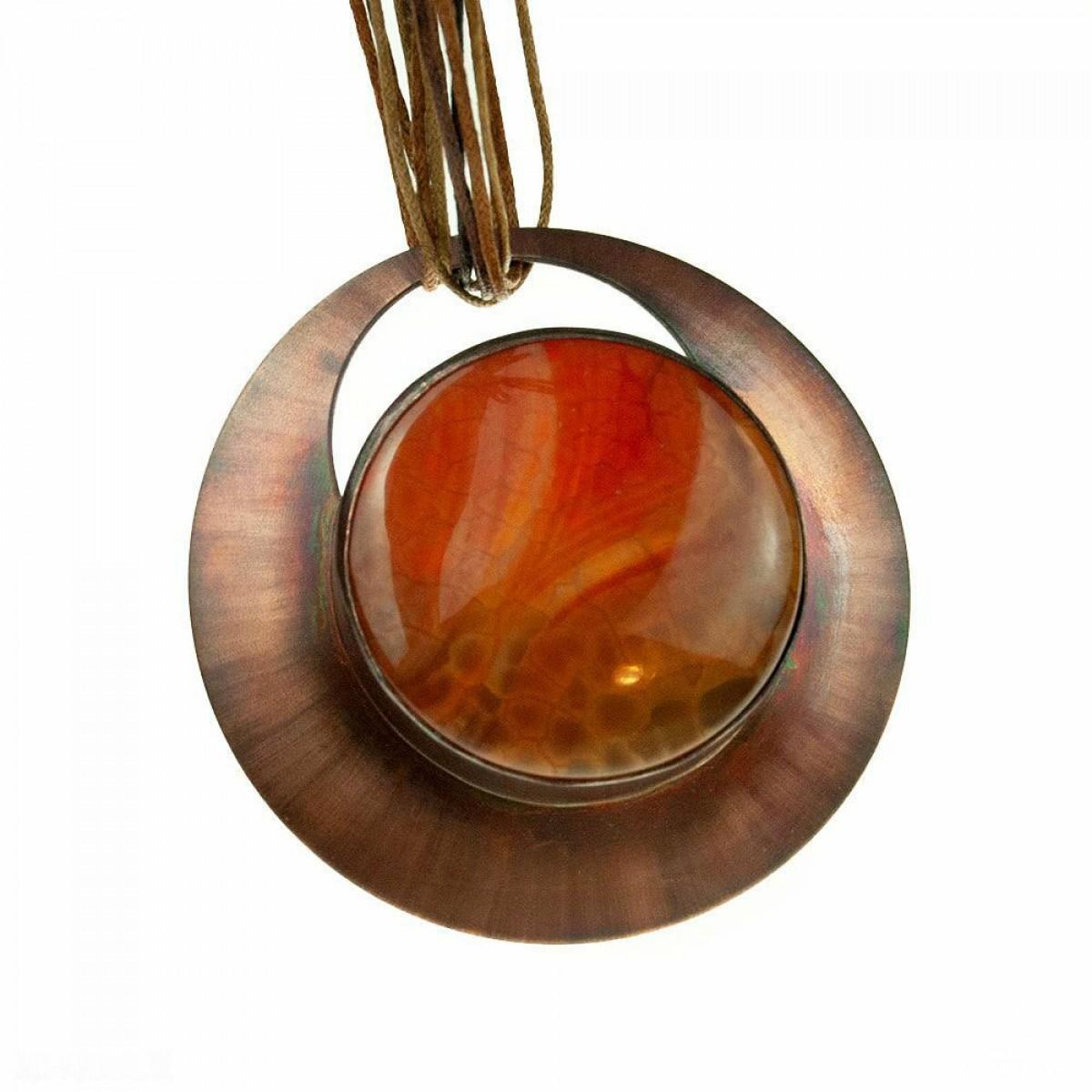 Esencja pomarańczu naszyjnik miedziany c602