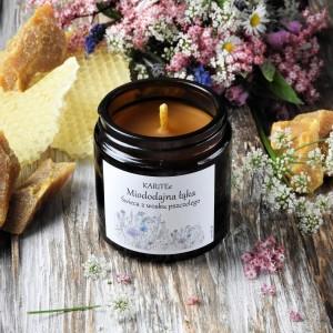 Świeca z wosku pszczelego-MIODODAJNA ŁĄKA