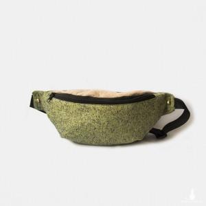 Nerka XL torebka biodrowa zielona plecionka