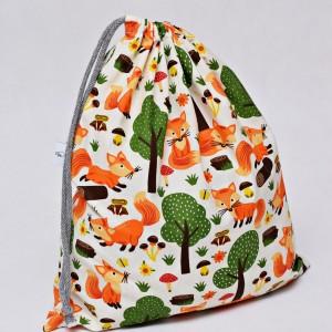 Worek na buty worek na kapcie do przedszkola do szkoły worek szkolny na ubrania liski w lesie