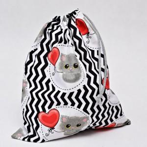 Worek na buty worek na kapcie do przedszkola do szkoły worek szkolny na ubrania kotki z balonem