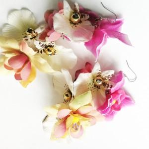 Kolczyki kwiatowe kolczyki wiszące