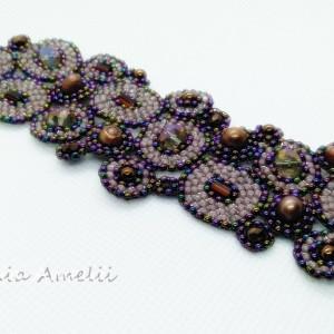 koralikowa łąka brązowe perły kryształy