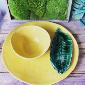 Zestaw ceramiczny żółty