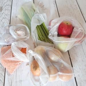 Zestaw 5 woreczków bawełnianych ZERO WASTE