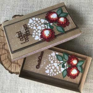 012 Folkowy komplet ślubny kartka w pudełku II