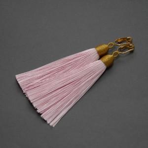 kolczyki lub klipsy z chwostami (różowe)