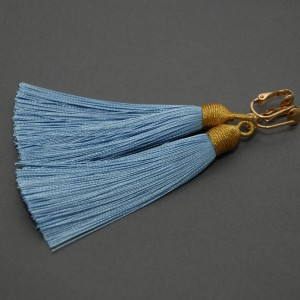 kolczyki lub klipsy z chwostami (niebieskie)