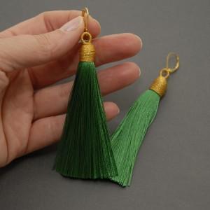 kolczyki lub klipsy z chwostami (zielone)