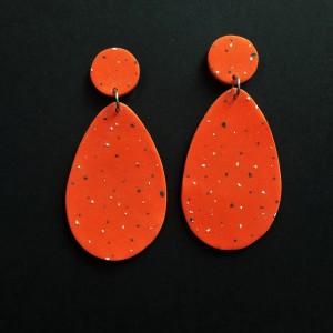 kolczyki pomarańczowe