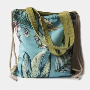 Plecak torba 2w1 zieleń + turkus